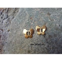 2 τεμ, 19 χλστ, Πετάλουδες απο Ορείχαλκο, Ασημί και Χρυσό