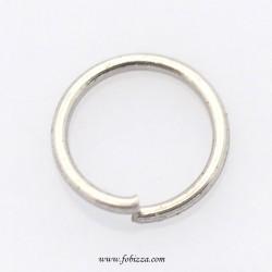 10 τεμ, 4x0,5 χλστ, Κρίκοι απο ανοξείδωτο χάλυβα χωρίς σφυρηλατημένο δακτύλιο, χρώμα από ανοξείδωτο χάλυβα ασημί και χρυσό