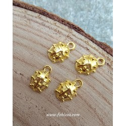4 τεμ, 15x10 χλστ, Μεταλλική Πασχαλίτσα, Χρυσό