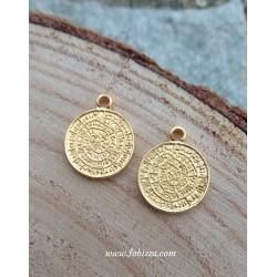 1 τεμ, 25,5 χλστ, Γεωμετρικό Σχήμα - Ο Δίσκος της Φαιστού, Χρυσό & Ασημί Αντίκας