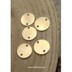 4 τεμ, 13 χλστ, Χαλκός, 2 Tρύπες, Flat Στρογγυλό, Χρυσό και Ασημί