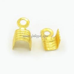 100 τεμ, 4x7 χλστ, Χαλκός, Συνδετικό άκρης, Χρυσό