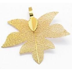 Ορειχάλκινο Επιχρυσωμένο Φυσικό Φύλλο, Χρυσό
