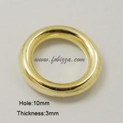 50 τεμ, 15x3 χλστ, 10 χλστ τρύπα, Ακρυλικό Συνδετικό, Δακτυλίδι,  Χρυσό