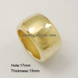 1 τεμ, 22x13 χλστ, 17 χλστ τρύπα, Ακρυλικό Συνδετικό, Δακτυλίδι,  Χρυσό
