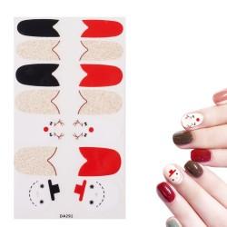 Nail Art Αυτοκόλλητα, Διακοσμήσεις άκρων νυχιών, Χριστουγεννιάτικο στυλ, Χρυσό