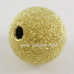 10 τεμ, Γυαλιστερί Χαντρα απο Χαλκό, 6 χλστ διάμετρος, 1 χλστ τρύπα, Χρυσό