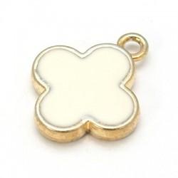 1τεμ, 19x15x3 χλστλ, Τρύπα: 2 χλστ, Κράμα  με Κρύσταλλα, 2 Συνδέσμους, Σταυρός , Χρυσό