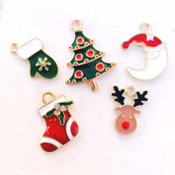 Ορείχαλκος με Σμάλτο, Χριστουγεννιάτικα Κρεμαστό, Μικτό Χρώμα και Σχήμα