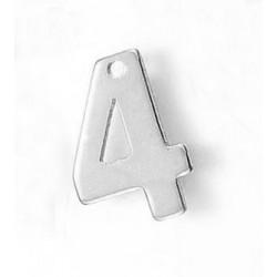 """304 Ανοξείδωτο Ατσάλι, Αριθμός """"4"""", Κρεμαστό, Ατσαλιού"""
