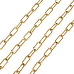 304 Ανοξείδωτο Ατσάλι, Αλυσίδα, Συνδετήρας, Χρυσό