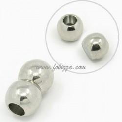 1 τεμ, 20x12 χλστ, Τρύπα 6 χλστ, Χαλκός, Μαγνητικό Κούμπωμα, Στρογγυλό, Πλατίνας