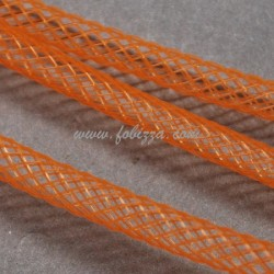 5 μέτρα, 4 χλστ, Πλαστικά Δίκτυ σε Κορδόνι, Πλέγμα Σωλήνα, Σκούρο Πορτοκαλί