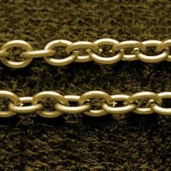 1 μέτρο, 3x4 χλστ, τρύπα: 0,4 χλστ, Αλυσίδα από Σίδηρο, Σταυρωτή, Χρυσό Αντίκας
