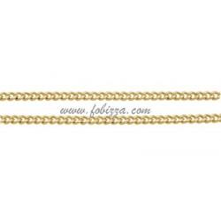 1 μέτρο, 1.5x1 χλστ, τρύπα: 0.35 χλστ λεπτή, Αλυσίδα από Χαλκό, Στριφτή, Χρυσό
