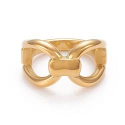 304 Ανοξείδωτο Ατσάλι, Δαχτυλίδι, Χρυσό