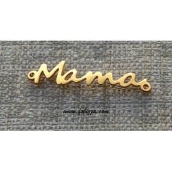 1 τεμ, 37x8 χλστ, 304 Aνοξείδωτο Aτσάλι, Λέξεις με 2 Συνδέσμους, Mama, Χρυσό