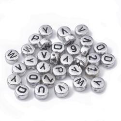 Ακρυλικά Γράμματα, Αγγλική Αλφάβητο, Χάντρα, Στρογγυλα, Μικτά Γράμματα, Ασιμή