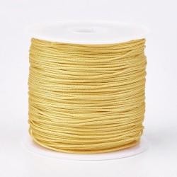 Μακραμέ Κερωμένο Σχοινί σε Χρυσό