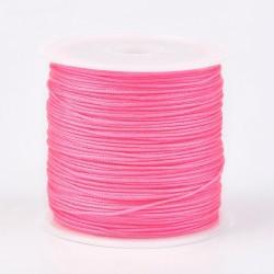 Μακραμέ Κερωμένο Σχοινί σε Ροζ