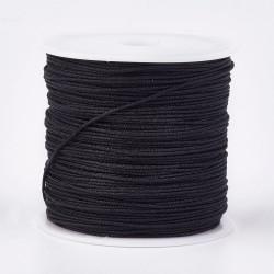 Μακραμέ Κερωμένο Σχοινί σε Μαύρο