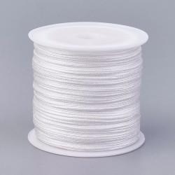 Μακραμέ Κερωμένο Σχοινί σε Λευκό