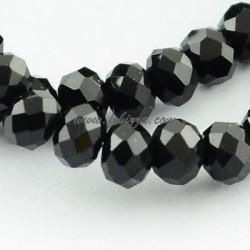 200 τεμ, 3x2 χλστ, Τρύπα: 0.5 χλστ, Γυάλινη, Πολύπλευρη, Άβακας, Μαύρο