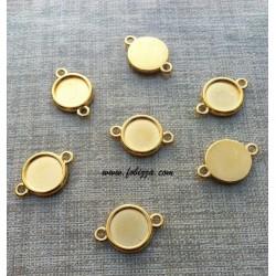 1 τεμ, 25x16 χλστ, Χαλκός, Καστόνια με συνδέσμους, Χρυσό