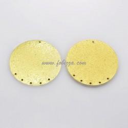 2 τεμ, 40x0.6 χλστ, Τρύπες 1 χλστ, Επιμεταλλωμένο με βάση Σίδηρο, Στρογγυλό, Χρυσό