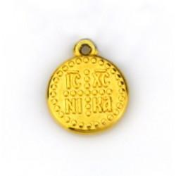 Επίχρυσο με 24Κ Χρυσό, Κωνσταντινάτο, Κρεμαστό, Χρυσο
