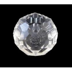 10 τεμ, 12x8 χλστ, Τρύπα 2 χλστ, Χειροποίητες Γυάλινες Χάντρες, Πολύπλευρη, Στρογγυλή, Λάμψη Μαργαριτάρι  Plated, Διαφανές