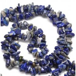 Φυσικός Lapis Lazuli Τσιπ Χάντρα, Μπλε
