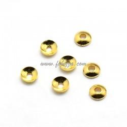 100 τεμ, 3x1 χλστ, 1 χλστ τρύπα, Χαλκός, Καπάκι Χάνδρας, Χρυσό