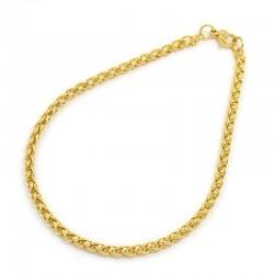 304 Ανοξείδωτο Ατσάλι, Box Αλυσίδα Χεριού, Βραχιόλι, Χρυσό