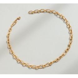 304 Ανοξείδωτο Ατσάλι, Αλυσίδα Λαιμού, Γραμμωτή, Χρυσό