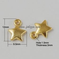 35 τεμ, 12x10x3 χλστλ, Τρύπα: 1.5 χλστ, Ακρυλικό, 1 Σύνδεσμο, Αστέρι , Χρυσό