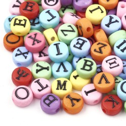 Ακρυλικά Γράμματα, Ελληνικό Αλφάβητο, Χάντρα, Στρογγυλα, Μικτό, Πολύχρωμα