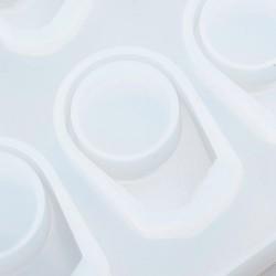 Καλούπια Σιλικόνης, Δαχτυλίδια, DIY Κατασκευές με Υγρό Γυαλί, Λευκό