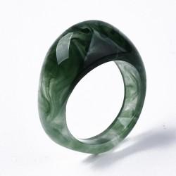Δαχτυλίδι απο Ρητίνη, Απομίμηση Ημιπολύτιμου Λίθου, Πράσινο