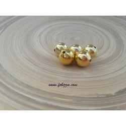 5 τεμ, 14 χλστ διάμετρος, 2 χλστ τρύπα, Μεταλλικές Χάντρα, Στρογγυλό, Χρυσό