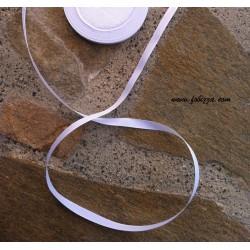 1 μ, 10 χλστ πάχος, Σατέν κορδέλα, Άσπρο