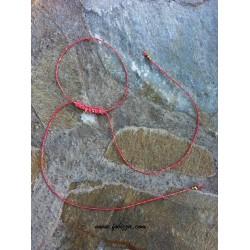 1 τεμ, 35 εκ. μήκος, 1 χλστ πάχος, Μακραμέ για Λαίμο, με Κρίκο, Ροζ με Χρυσό