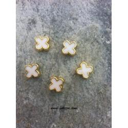 5 τεμ, 13 χλστλ, Τρύπα: 2 χλστ, Ακρυλικό με Σμάλτο, Σταυρός, Χρυσό