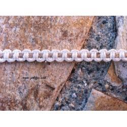 1 μετρο, 9 χλστ., Βαμβακερό Πλεκτό Σχοινί με Συνδέσμους, Κρεμ