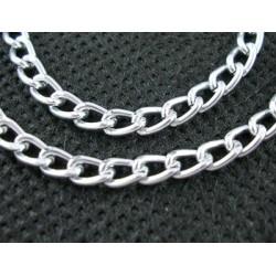 1μ, 3,5x6 χλστ, Αλουμίνιο, Αλυσίδα Οξειδωμένη σε Ασήμι