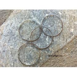 10 τεμ, 35 χλστ διάμετρος, Μεταλλικός, Κρίκος, Ασημί