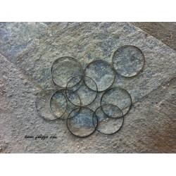 10 τεμ, 25 χλστ διάμετρος, Μεταλλικός, Κρίκος, Ασημί