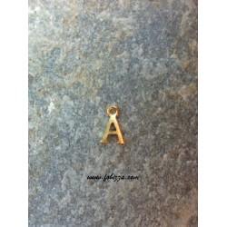 """2 τεμ, 12x10 χλστ, Μεταλλικά Γράμματα με 1 Σύνδεσμο, """"Α"""", Χρυσό"""