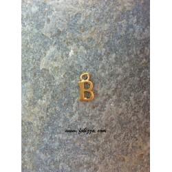 """2 τεμ, 12x10 χλστ, Μεταλλικά Γράμματα με 1 Σύνδεσμο, """"Β"""", Χρυσό"""