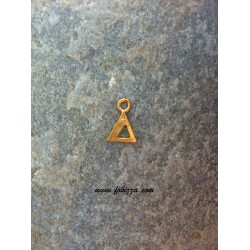 """2 τεμ, 12x10 χλστ, Μεταλλικά Γράμματα με 1 Σύνδεσμο, """"Δ"""", Χρυσό"""